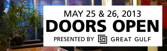 Doors Open Toronto – May 25th & 26th 2013
