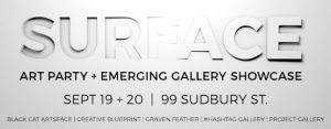 SURFACE Art Party & Gallery Showcase: Sept 19-20